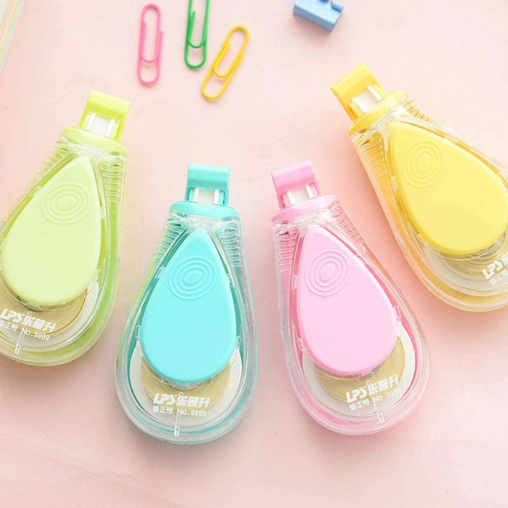 12 pcs/Lot Macaron color Water drips Correction tape LPS tapes stationery corretivo escolar fita Office supplies
