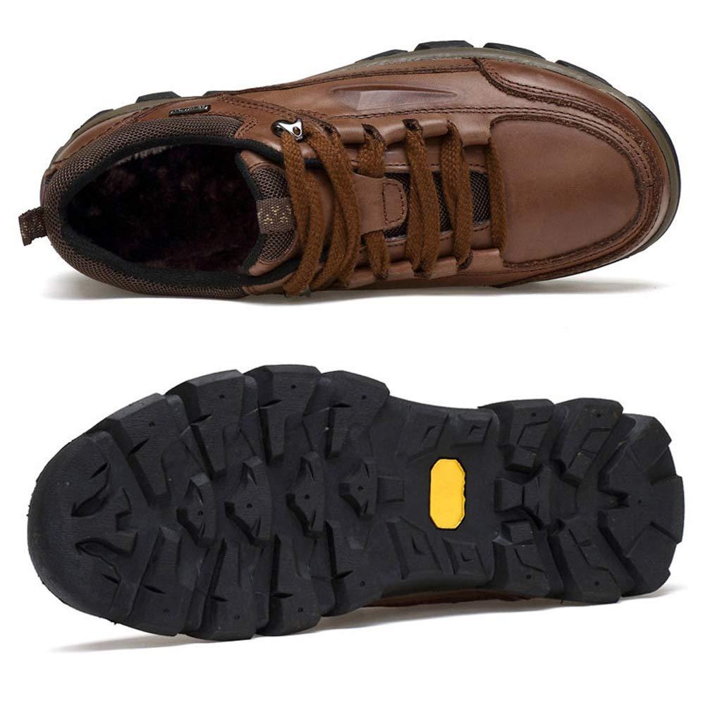 WANG-LONG Schuhe Martin Herren Stiefel Martin Schuhe Herbst Und Winter Outdoor Plus Samt Warme Atmungsaktive Beiläufige Wanderschuhe,braun-46 714a61