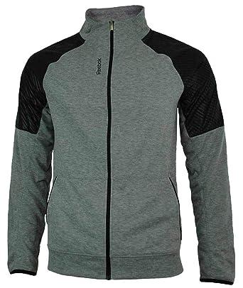 Reebok SE Fabmix Track Jacket Herren PlayDry Slim Fit Trainingsjacke Grau