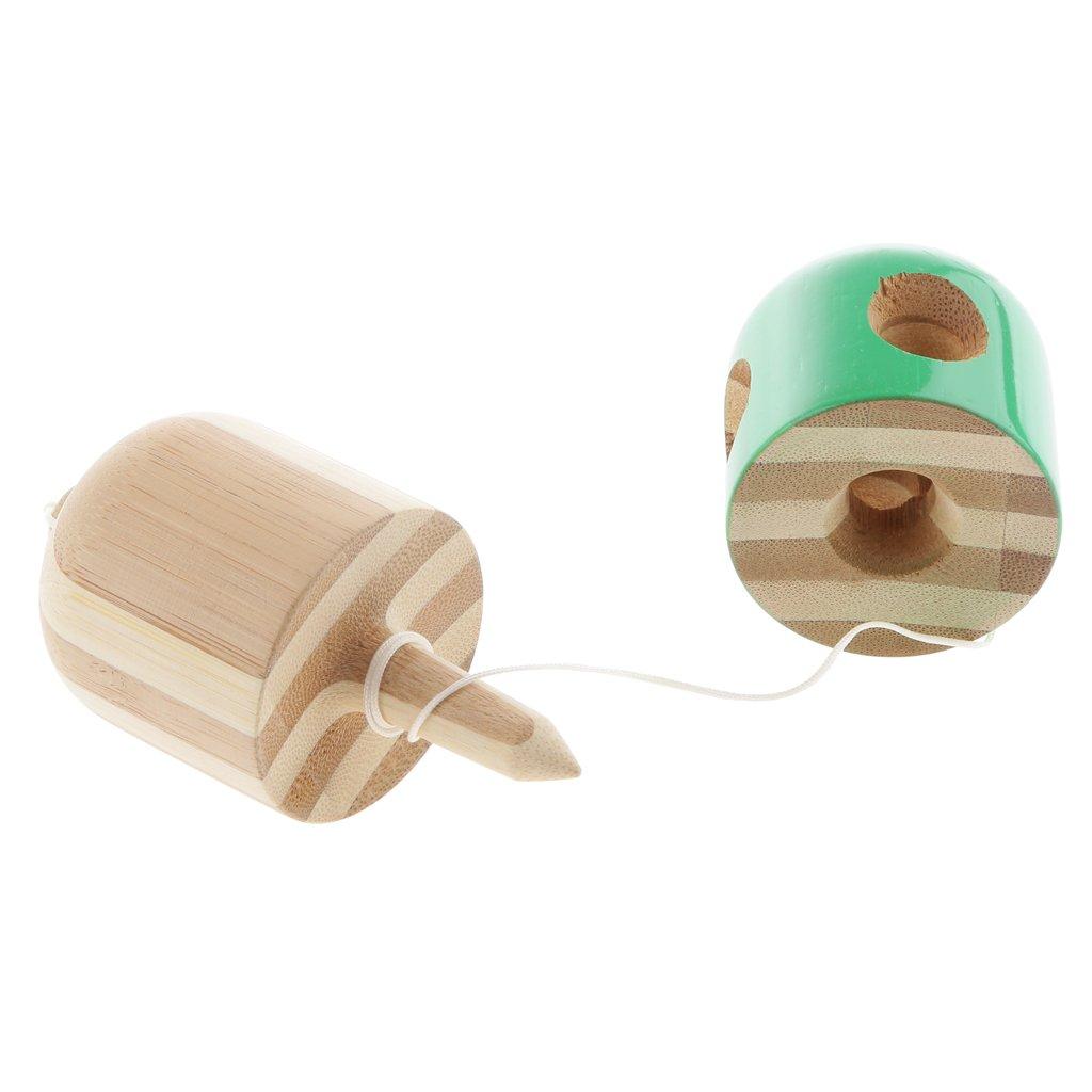 Holzspielzeug 5-Loch Bambus Kapsel Pille Kendama Holzspielzeug Geschicklichkeitsspiel