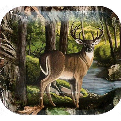Deer Hunting Camo Dinner Plate (Buck image, camo
