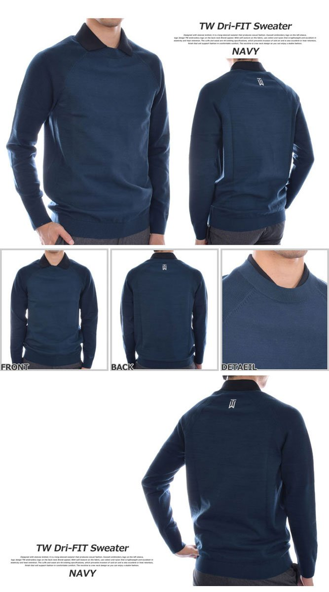 Nike Men's TW Pullover Golf Top (Black, M) by Nike (Image #1)