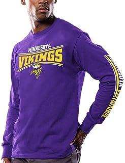 af64da7f7 Majestic Men s Minnesota Vikings Purple Primary Receiver 9 Long Sleeve T  Shirt