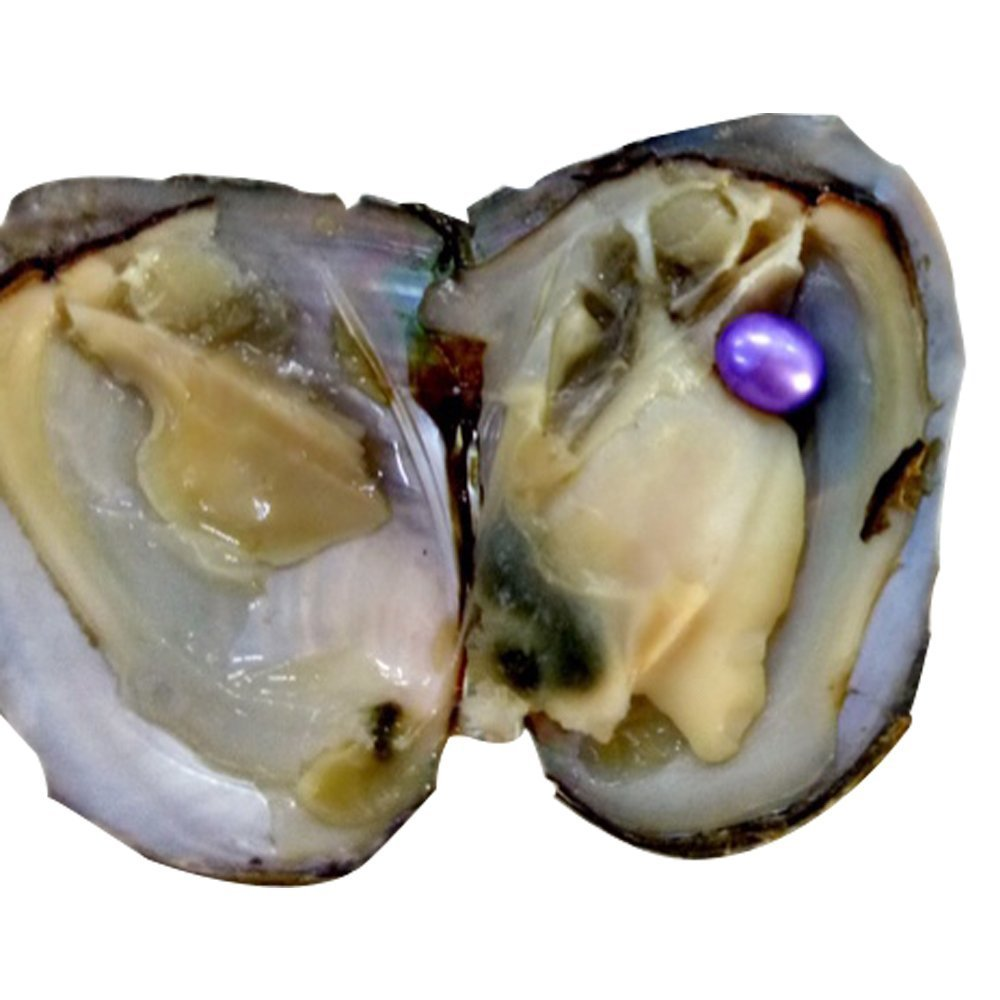 6-7mm Pearl Oyster Freshwater Cultured 10 Pcs Rice-shaped Pearls Dyeing Colorful Pearl Oyster