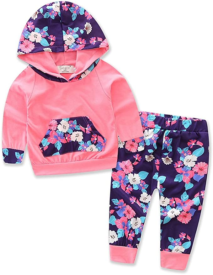 0-4Y girls clothes cotton hoodies set for kids clothing suit sweater shirt+pants