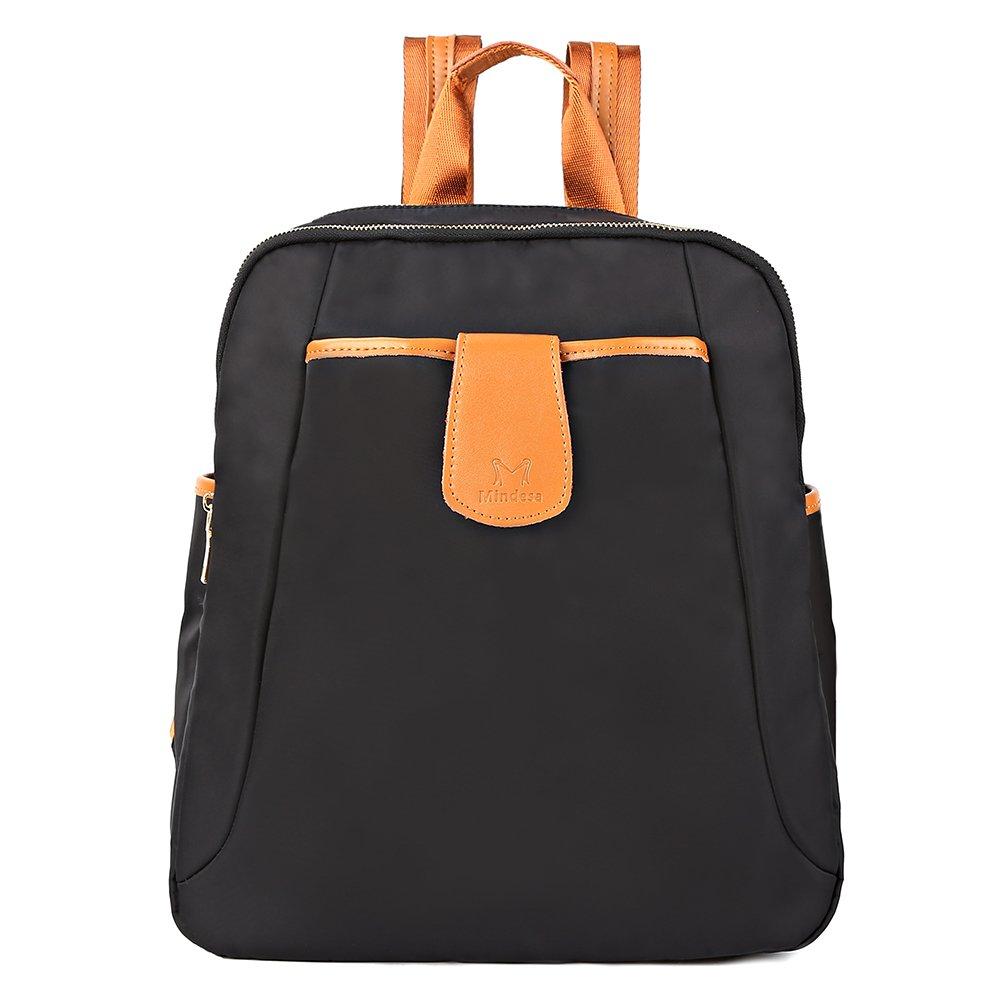FRFUN Women Backpack Purse Water Resistant Nylon Shoulder Bag Casual Travel Sport Ladies Rucksack School Bag for Girls (Black)