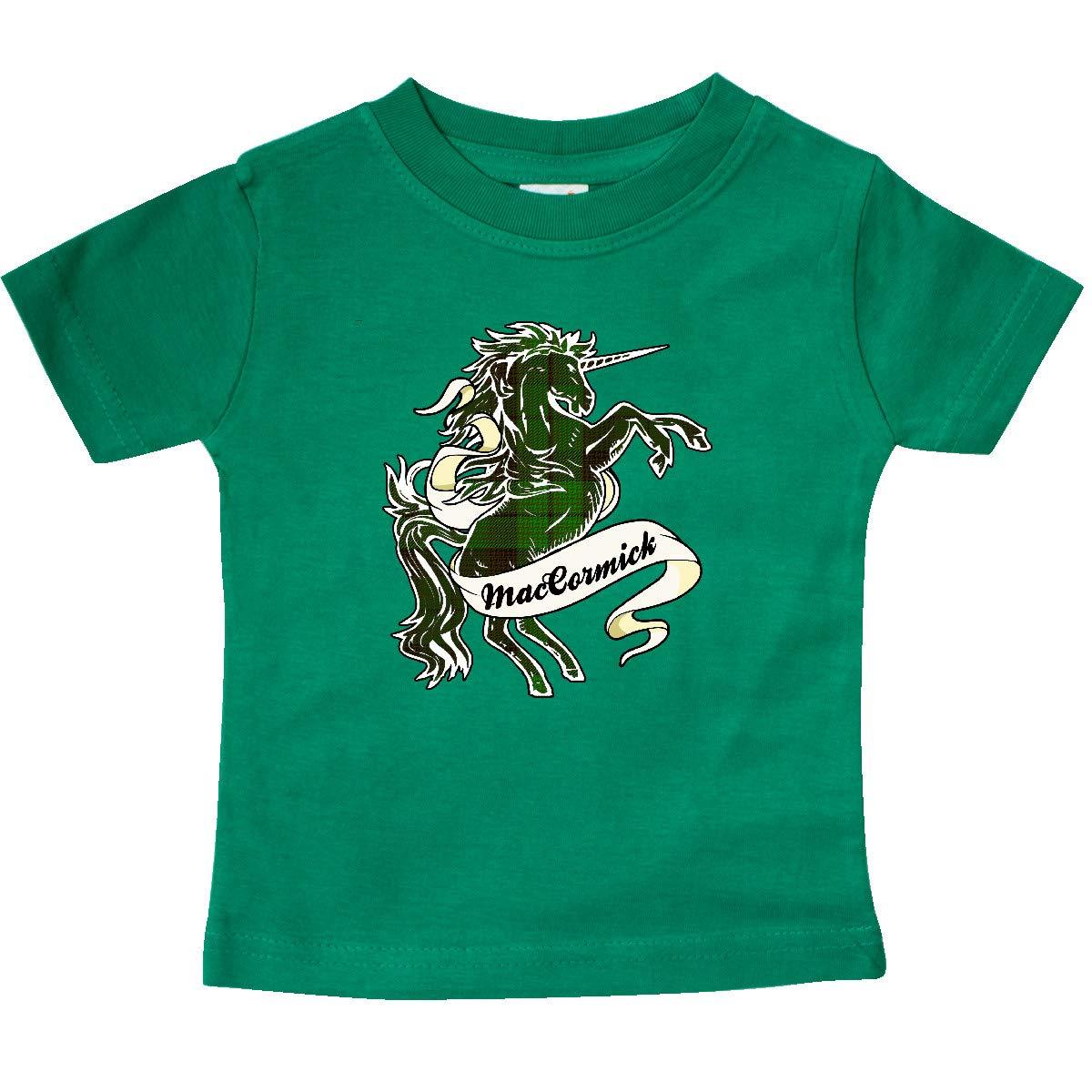 inktastic MacCormick Tartan Unicorn Baby T-Shirt
