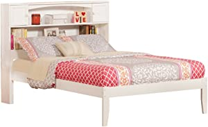Atlantic Furniture Newport Platform Bed with Open Foot Board, Full, White