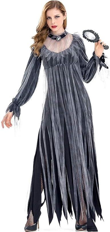 Hzjundasi Disfraz Vampira Halloween Vampiresa Reina Cosplay ...