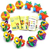 Egg Box Foam Suppliers Fun Puzzle Balls with Free Colorful Instruction Guide by Gamie - Party Games - Fidget Brain Teaser Puzzles - Includes 12 Fun and Challenging Puzzle Balls   Great Educational Toy for Kids