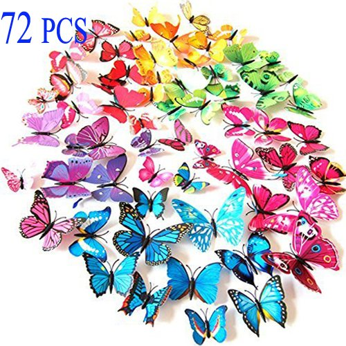Vinilo Decorativo Pared [1m24dv40] Mariposas