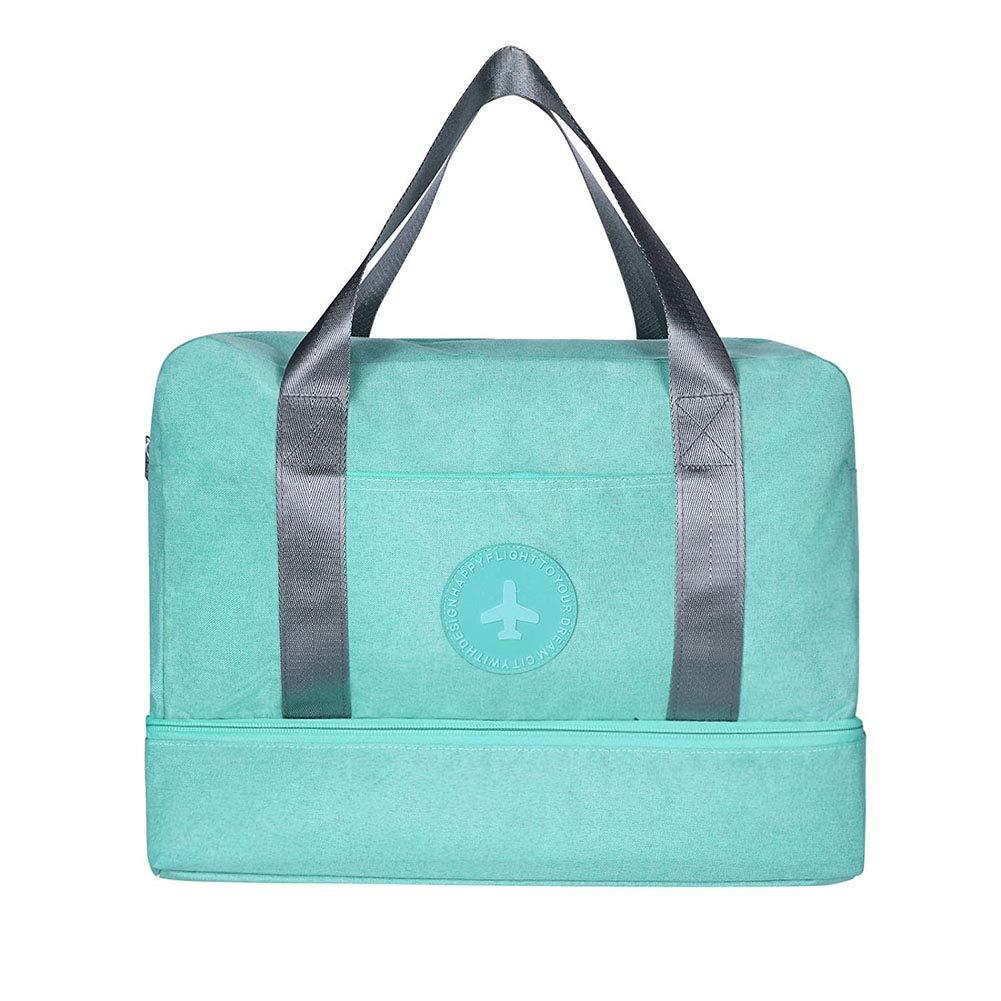 ASYY Waterproof Gym Bag with Shoe Compartment Swim Bag Travel Weekender Dry Wet Depart Mesh Tote Bag for Men Women Grey