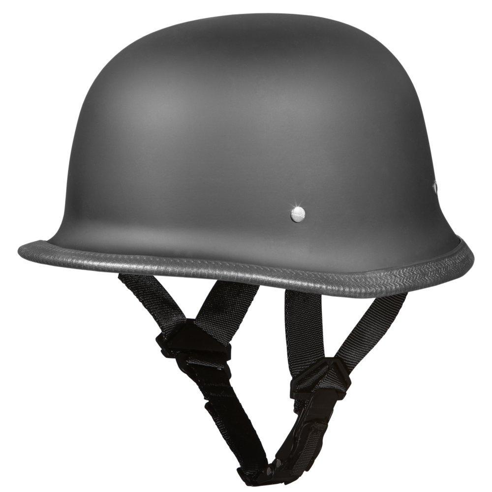 German Motorcycle Helmets   Dull Black   D.O.T. Approved Hel