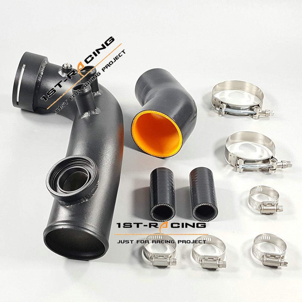 ISPEEDY Turbo Pipe Hose HKS SSQV Flange Kit For BMW N54 E82 E88 E90 E91 E92 135i 1M 335i