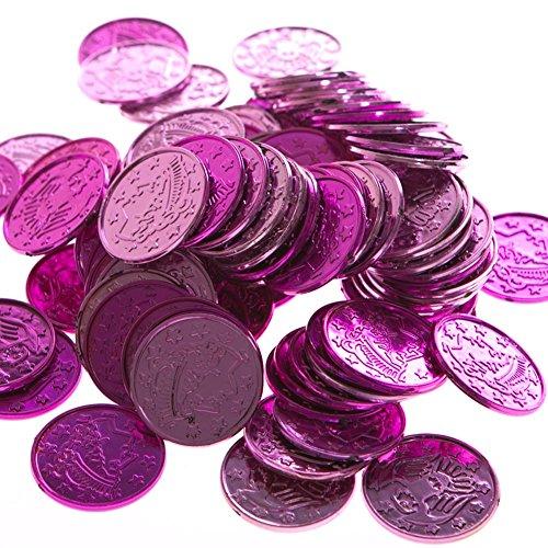 Plastic Coins (asstd cerise & pink)    (Pink Ribbon Coin)