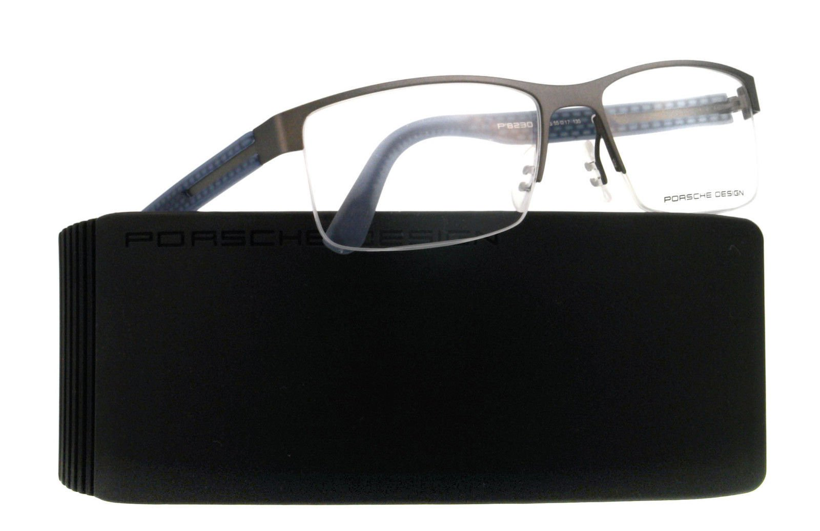 Porsche Designs Eyeglasses P8230 D Sand, Blue Demo 55 17 135