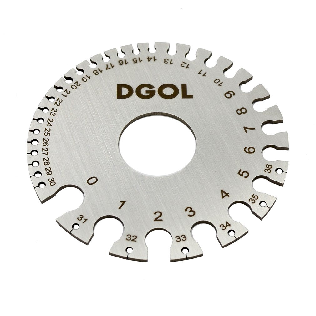 DGOL Round Cable Sheet Stainless Steel SWG Wire Gage Standard Thickness Metal Gauge