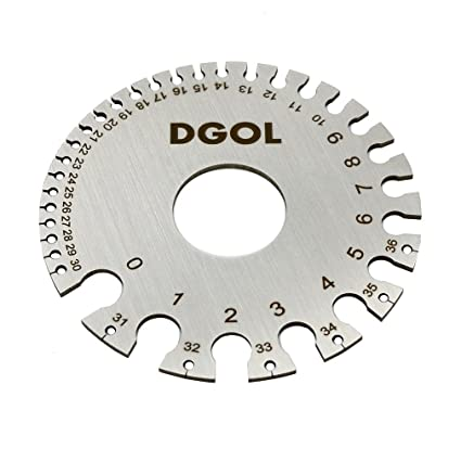 Amazon dgol round cable sheet stainless steel swg wire gage dgol round cable sheet stainless steel swg wire gage standard thickness metal gauge keyboard keysfo Choice Image
