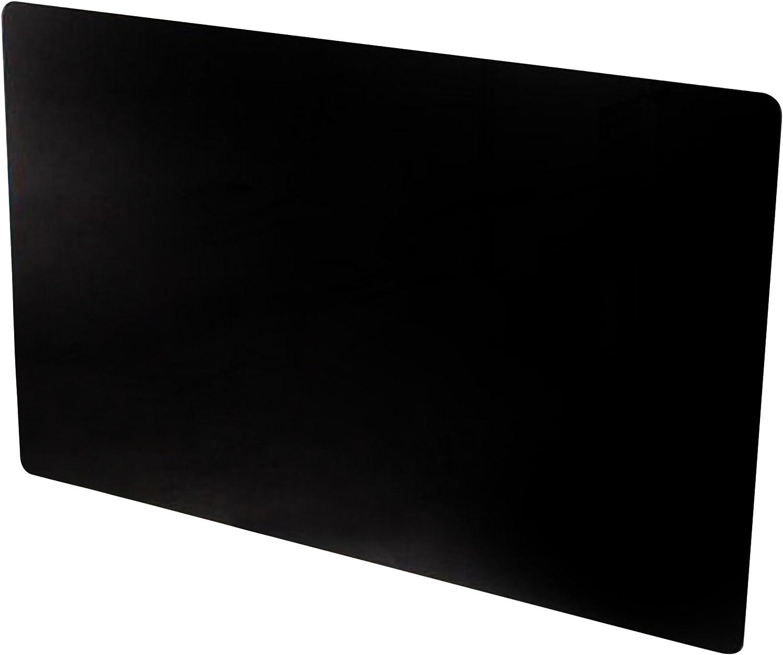 Adams Vitreo - Cobertura de cristal para radiador (900mm de largo), color negro