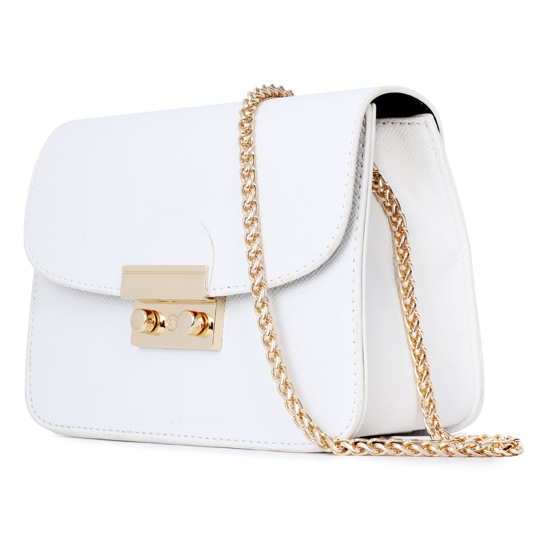 Chain Bags for Women White Chain Purse Crossbody Gold Clutch Small Purse in Mini Siz