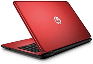 "2018 Newest Premium High Performance HP Laptop PC 15.6"" HD BrightView WLED-Backlit Display Intel Pentium N3540 Quad-Core Processor 4GB RAM 500GB Hard Drive HDMI DVD-RW WiFi Windows 10-Red"