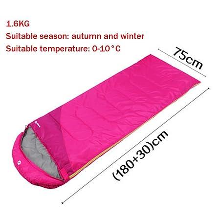 Saco de dormir adulto interior grueso grueso exterior acampar invierno vísceras algodón de plumas saco de dormir 180 * 75 cm temperatura adecuada 0 ° C -10 ...