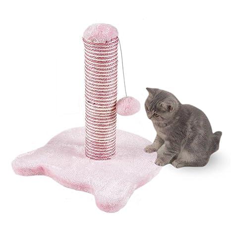 Petcomer Poste Rascador para Gato Árbol para Gato Juego para Gato (Rosa Claro)
