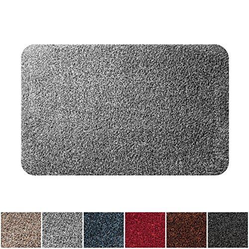 Dirt Stopper Door Mat (casa pura ECOGuard Entrance Mat | Natural | 100% Cotton Pile | Highly Absorbent | Gray | 24