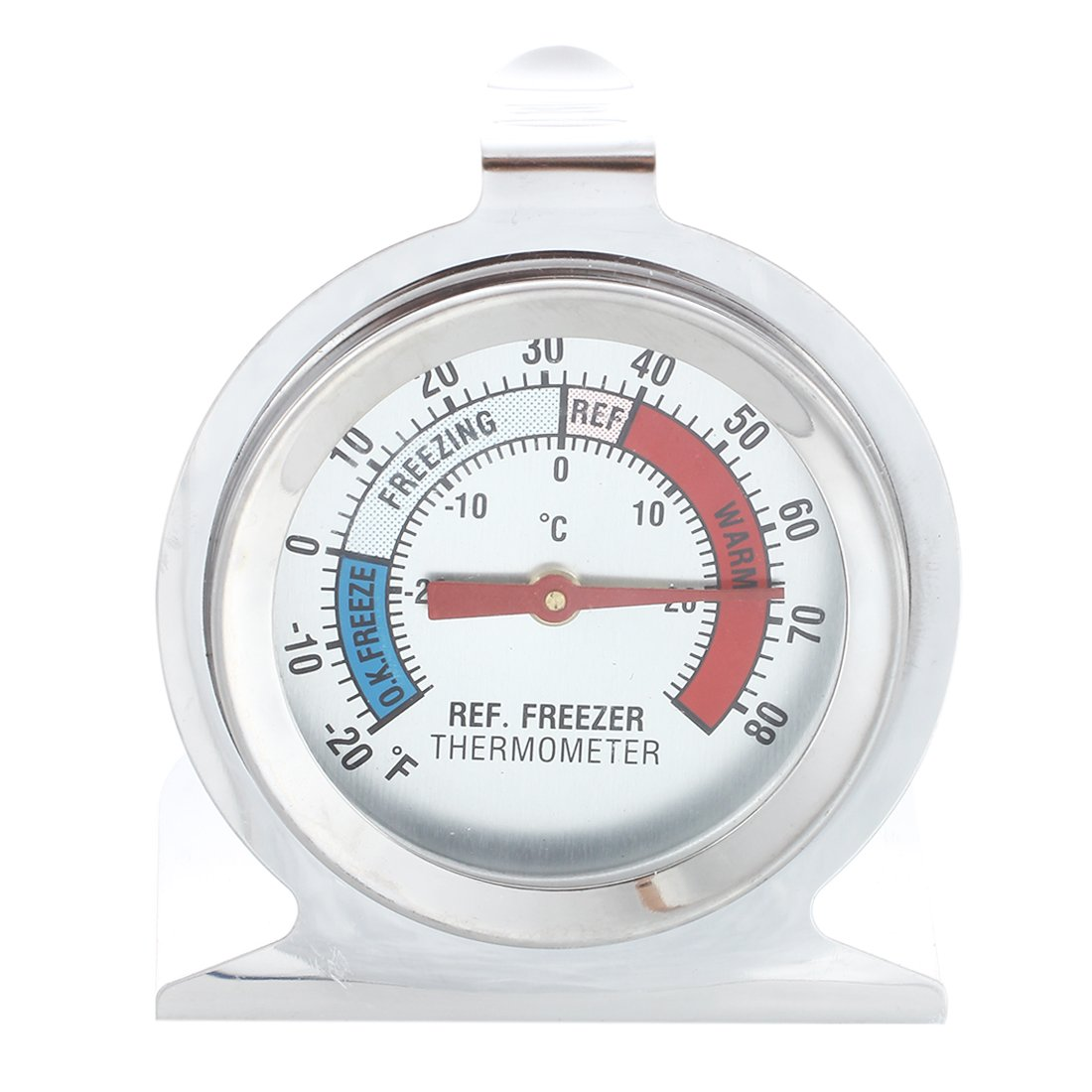 SODIAL(R) Stainless Steel Dail Thermometer for Refrigerator Fridge Freezer AEQW-WER-AW127550