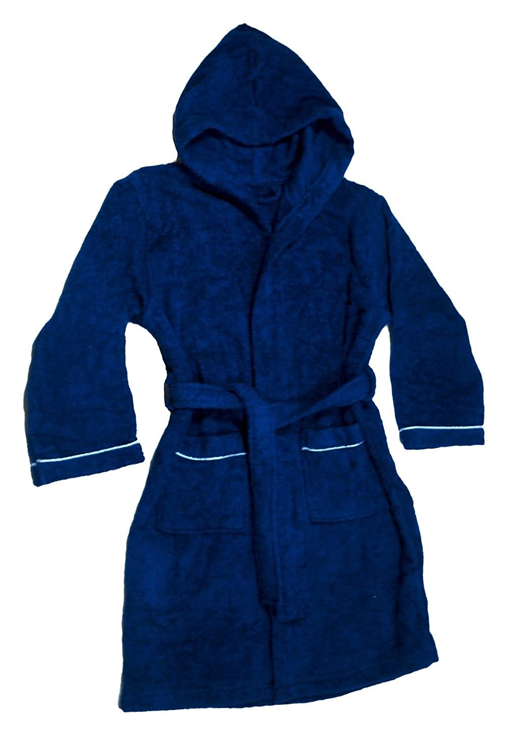 Boys Terry Cloth Hooded Bathrobe 100% Cotton Terry Coverup