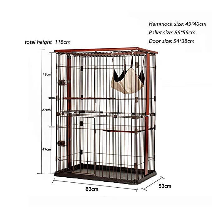 Amazon.com : Pet Playpens Double Layer Cat Cage Small Pet Fence Cat Villa Luxury, Small Animals Cage : Pet Supplies