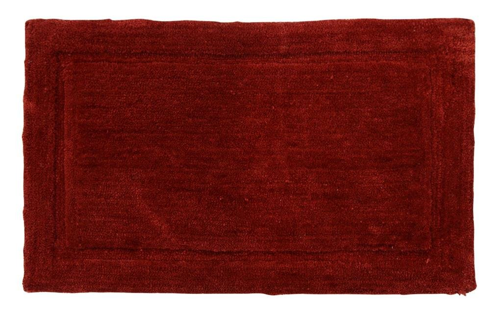 WARISI - Track Collection - Solids microfiber Bathroom, Bedroom Rug, 34 x 21 inches (Marsala) by WARISI (Image #2)
