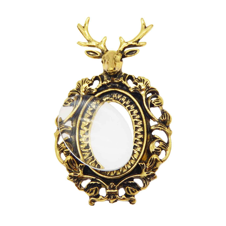 GraceAngie 6 Sets Christmas Deer Head Bezel Pendant Trays with ...