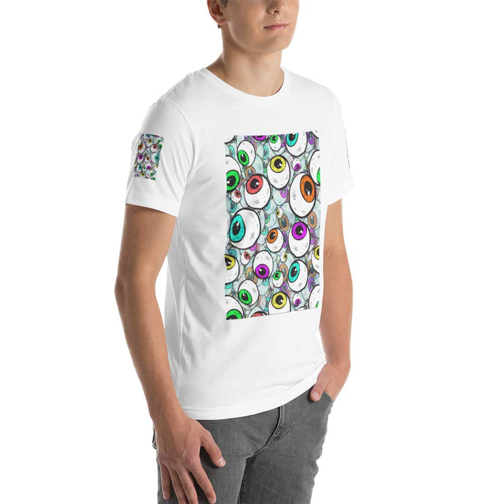 Spicy Cold Apparel Cartoon Eyeball Happy Thanksgiving Day Mens Ultra 100/% Cotton Short Sleeve T-Shirt 3001