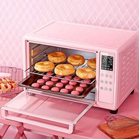 30l Mini Toaster Oven Pink Stainless Steel Decker Ovens With Crumb Tray Griddle And Lid Rotisserie Oven Easy Bake Oven For Kids Amazon Ca Home Kitchen