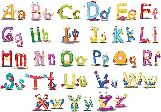 ufengke Vinilos Infantiles Letras Animales Pegatinas Decorativas Pared Adhesivos Decorativos para Habitaciones Bebe Salon: Amazon.es: Hogar