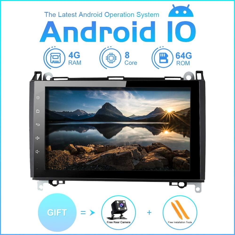 ZLTOOPAI Auto Multimedia Player f/ür Mercedes Benz Sprinter B200 Viano Vito W639 W169 W245 W209 Android 10 Octa Core 4G RAM 64G ROM 9 Zoll IPS Doppel DinCar Radio Audio Stereo GPS Navigation