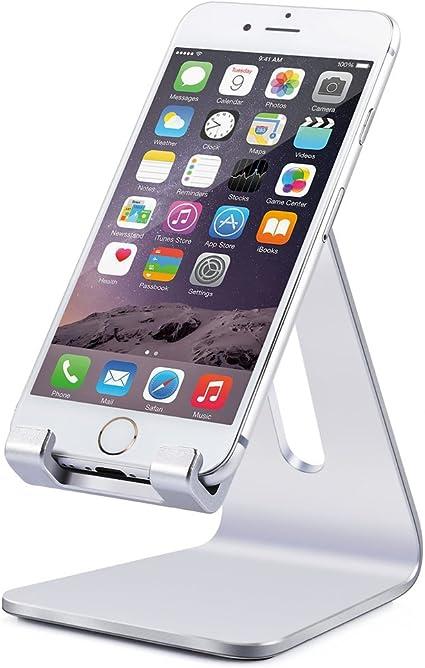 YKS Smartphone brazo pie soporte plata Solid Portable aluminio ...