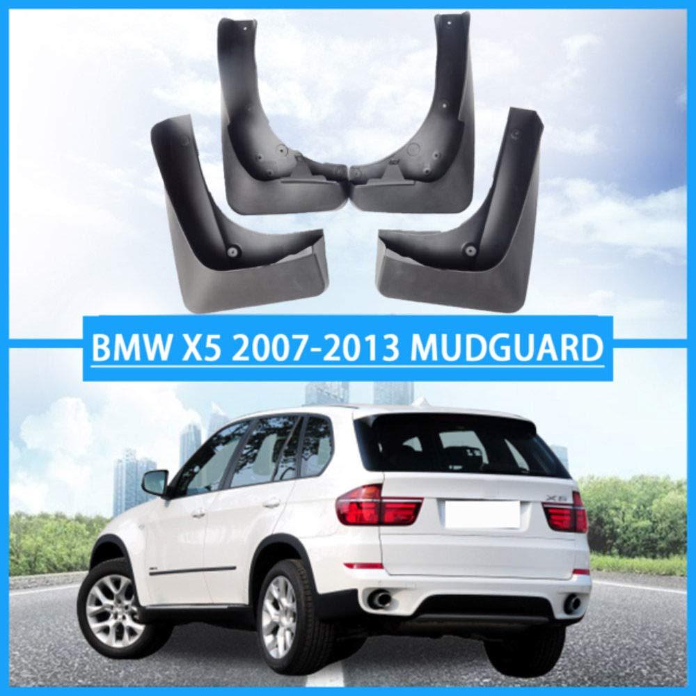 para BMW X5 E70 2007-2013 Delantera Trasera Mud Flap con Clavos de Tornillo GLFDYC 4Pcs Guardabarros Coche Negros Protecci/ón contra Salpicaduras Fald/óN Aletas Splash Fender