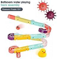 XINJIA Baby Bath Toy Kids, 24 / 44pc Pista de ensamblaje de baño para bebés Jugando Juguetes de baño de baño de Agua, Baby Assecked Track Slippery Bathing Bath Toy