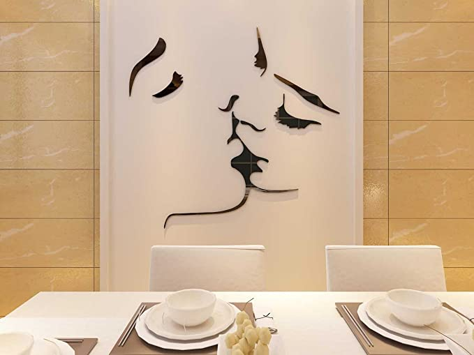 Amazon.com: 3d Kiss murales de pared para sala de estar ...