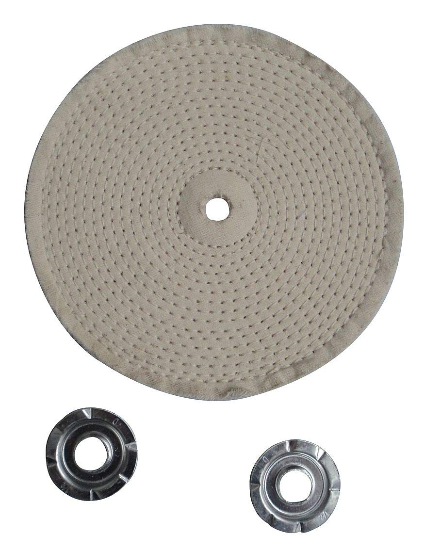 Buffing Wheel, Spiral Sewn, 4 In Dia. - 12U081 (Pack of 5)