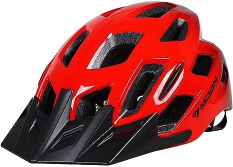 RenshenX Scooter Skate Casco,Casco Graduado Montar en Bicicleta, Equipo Seguridad Ciclismo Masculino y Femenino, Rojo_M (55-58cm),Montar Bicicleta Casco: Amazon.es: Deportes y aire libre