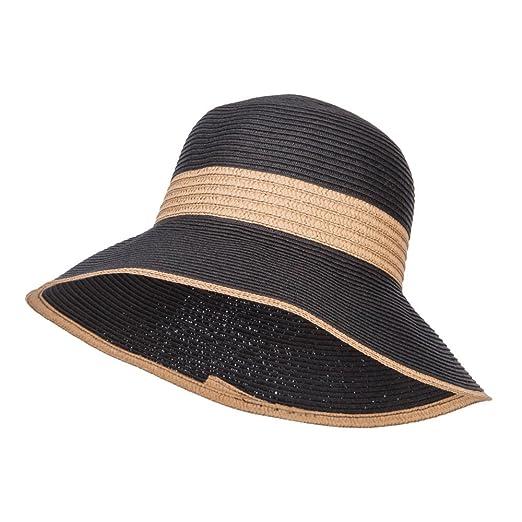 d366e268d2c Two Tone Downturned Brim Bucket Hat - Black OSFM at Amazon Women s ...