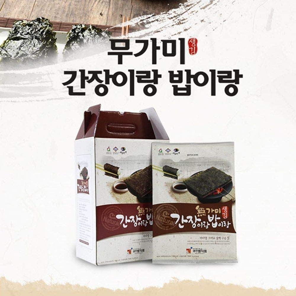 Korea Seaweed 12g x 10, good pairing with soysauce and rice