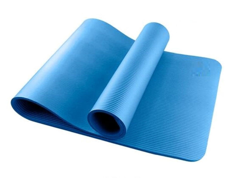 ZHANGHAOBO Yoga Mat Fitness Mat Fitness Fitness Anti-Rutsch Senden Straps Net Sets,Blau