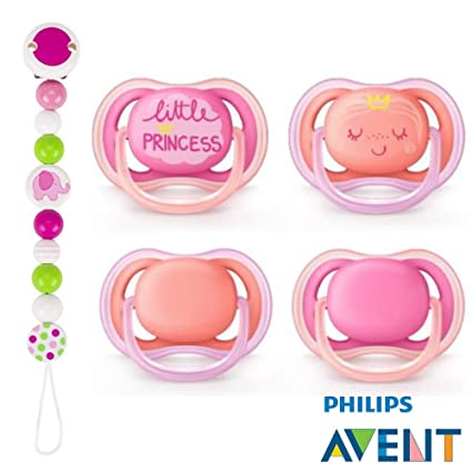 Philips AVENT Ultra Soft Air Chupete 6 - 18 Princess de rosa ...