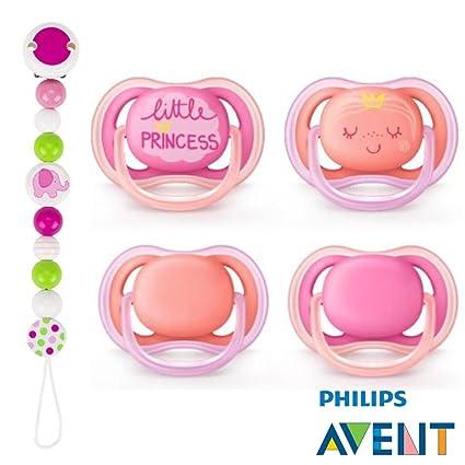 Philips AVENT Ultra Soft Air Chupete 6 - 18 Princess de rosa ...