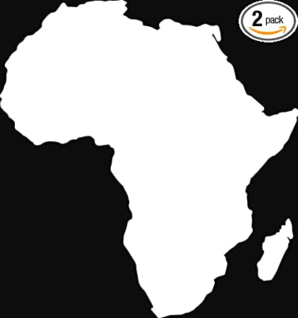 Amazon.com: ANGDEST Africa Map Silhouette (White) (Set of 2