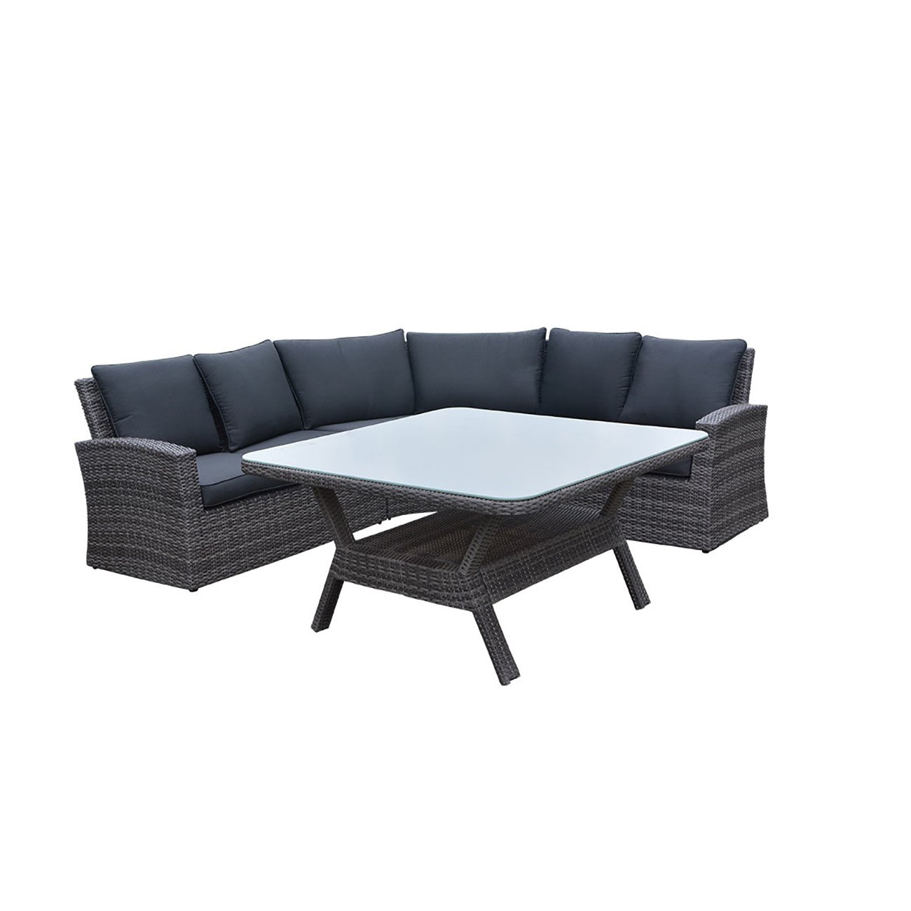 OUTLIV. Johannesburg Dininglounge 4tlg Organic Grey / Anthrazit Lounge Set